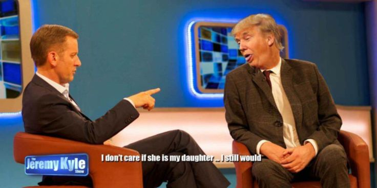 """Donald Trump to appear on Jeremy Kyle Show -- Jeremy Kyle was said to be jubilant this morning after securing an exclusive appearance by Donald Trump. The show which is titled """"Five children by Three Women"""" will almost certainly feature Donald Trump taking a DNA test to prove that he's human. Divorce and adultery are said... -- #JeremyKyle, #Rochdale, #Trump -- http://rochdaleherald.co.uk/2016/09/06/donald-trump-to-appear-on-jeremy-kyle-show/"""