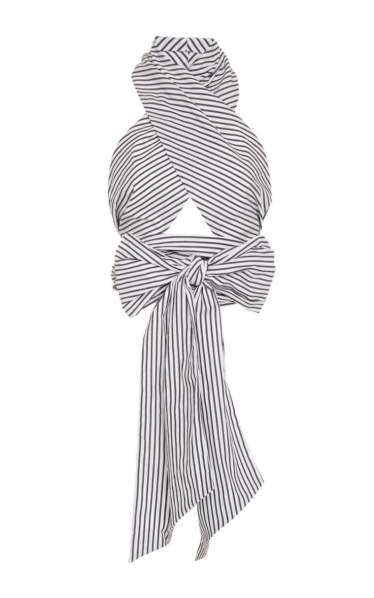 Stripe Oversized Wrap Top by TOME Now Available on Moda Operandi