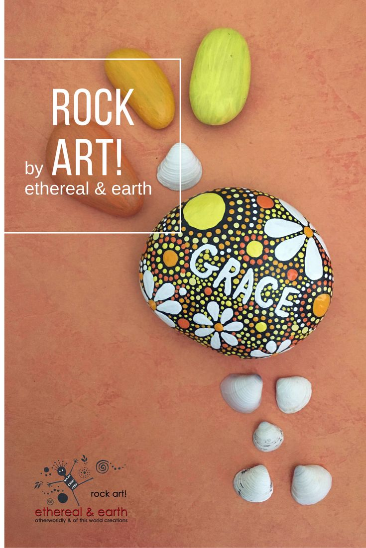 $17 - ROCK ART by ethereal & earth - otherworldly & of this world creations! Hand Painted River Rocks with floral, mandala designs. FREE US Shipping!