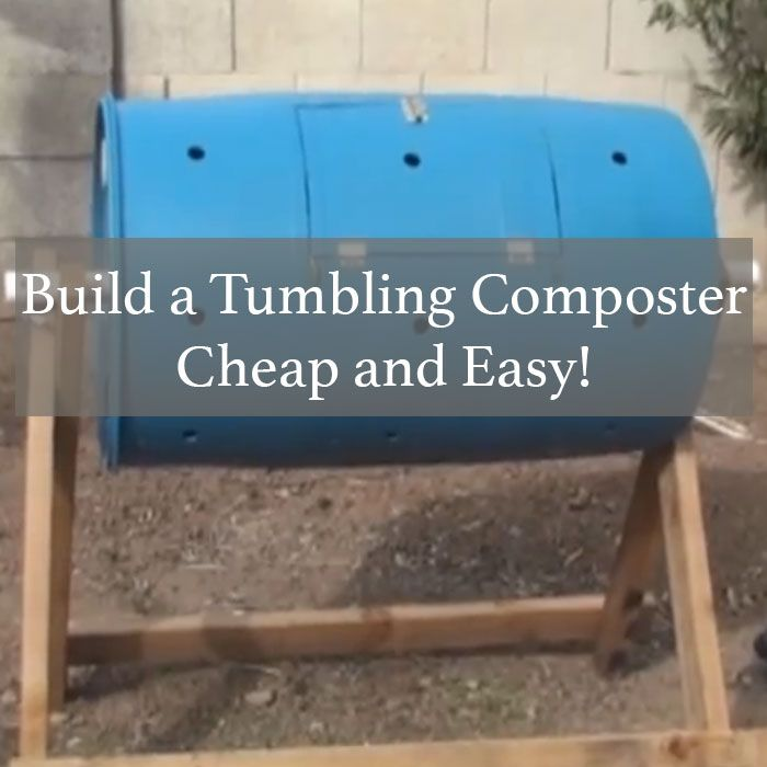 how to make a rotating compost barrel