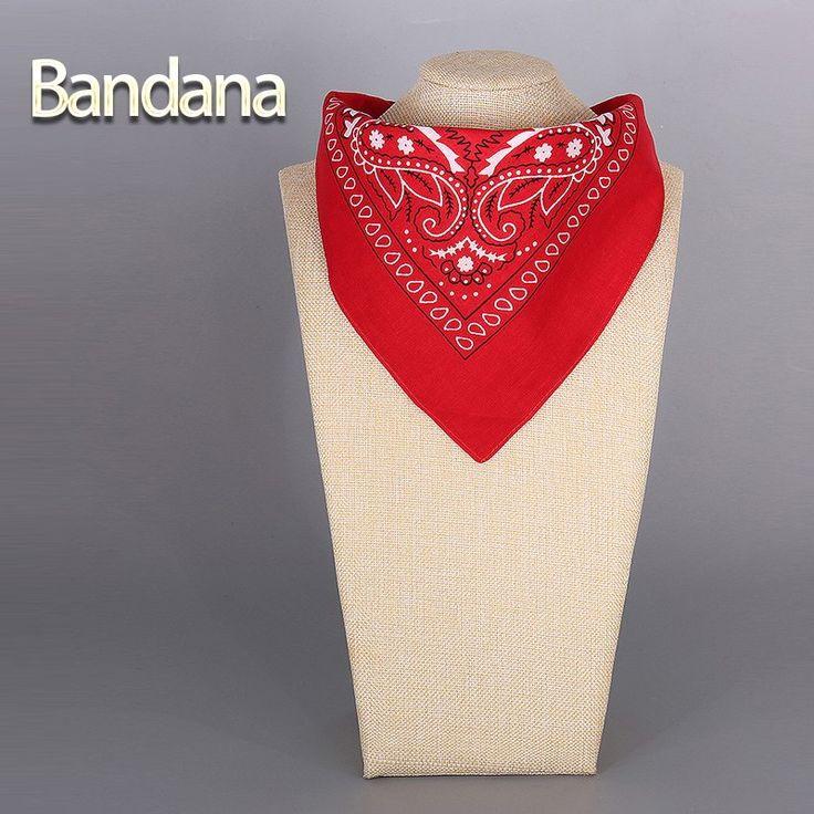 2016 Cotton Bandana Scarf Square Head Scarf Women Men Fashion Bicycle Bandana Motorcycle Female Bandanas Headwear Scarves Hijab