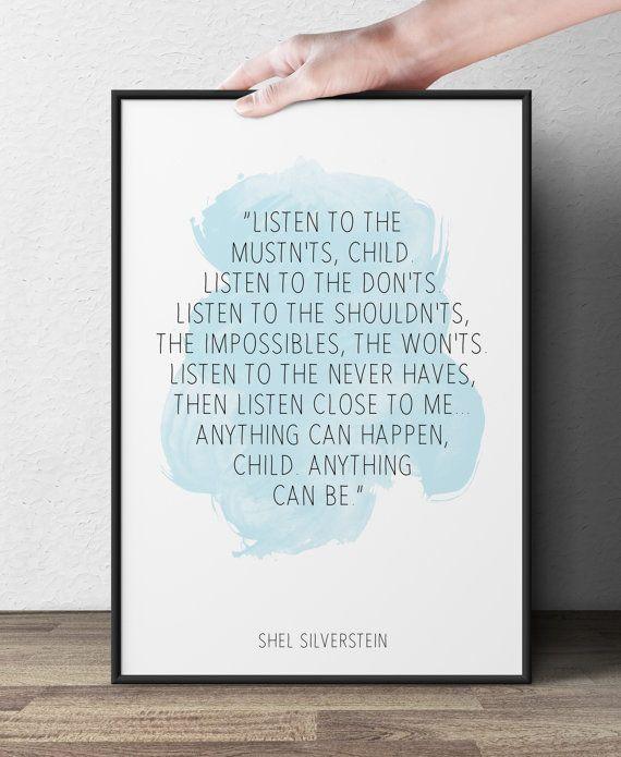 Shel Silverstein Graduation Quotes: Listen To The Mustnts, (...), Shel Silverstein