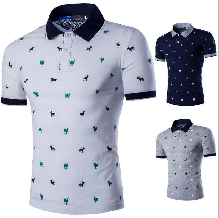 2016 Nueva Moda de Verano Hombres Camiseta de Manga Corta Tops Camisa masculino Casual Tees Diseño Delgado Que Basa La Camiseta Masculina T camisas free shipping worldwide
