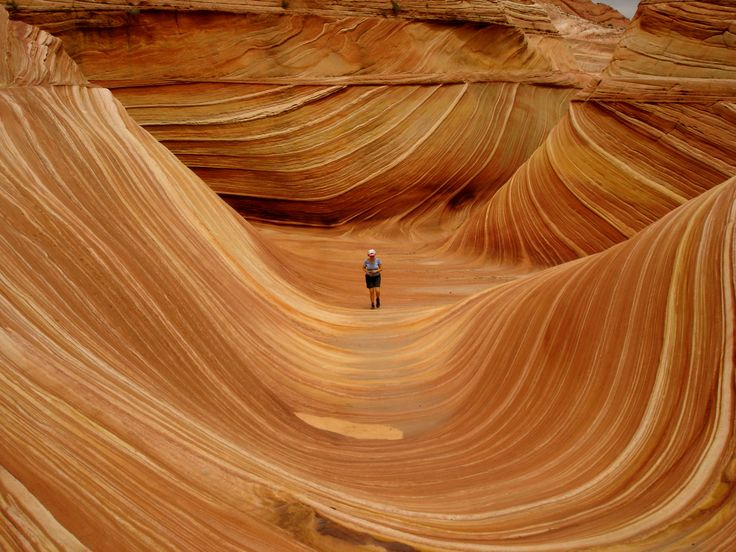 The Wave is a sandstone rock formation located in the Paria Canyon-Vermillon Cliffs Wilderness near the border of Arizona and Utah. It's known for its colorful and unique formations and the difficult hike required to reach it, and you'll need to obtain a permit to visit.  via @AOL_Lifestyle Read more: http://www.aol.com/article/2016/03/09/29-of-the-most-surreal-landscapes-on-the-planet/21325341/?a_dgi=aolshare_pinterest#fullscreen