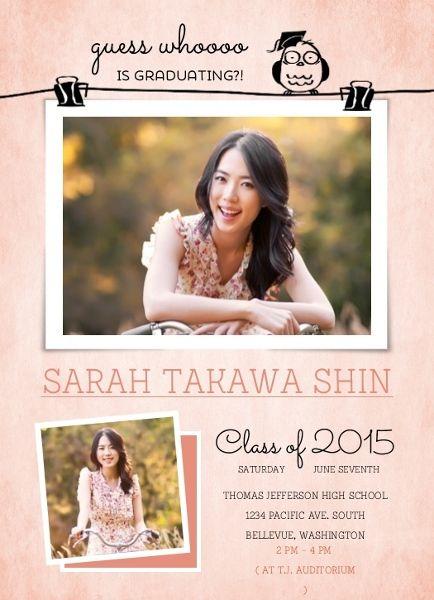 Cute Owl Photo Pin Graduation Announcement Card by InviteShop.com. #cheap #graduation #announcements #graduationannouncements