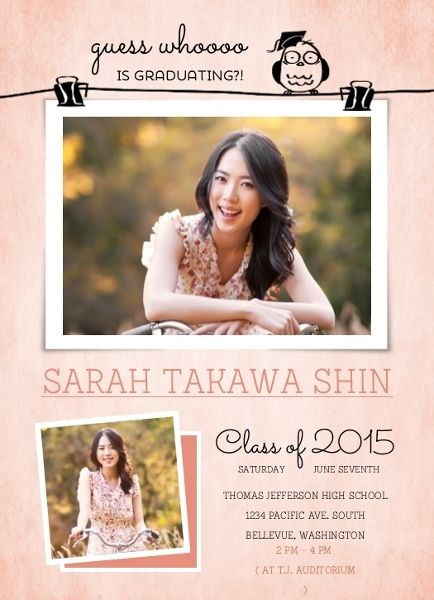 Cute Owl Photo Pin Graduation Announcement Card by InviteShop.com. #cheap #graduation #announcements #graduationannouncements