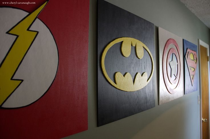 Superb Superhero Wall Art