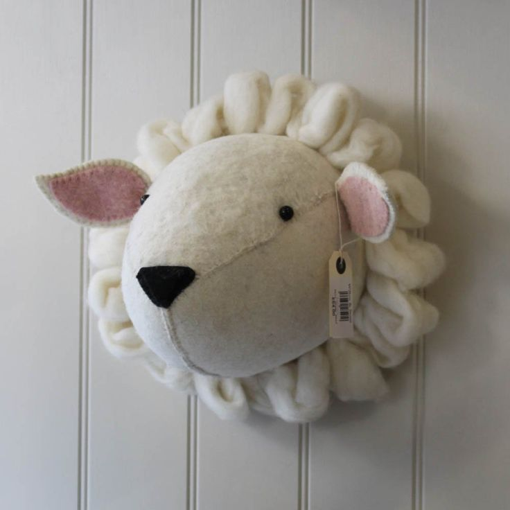 Felt Sheep Head