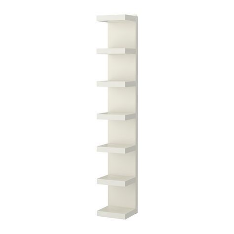 IKEA - LACK, Wandregal, weiß, , Regale mit geringer Tiefe nutzen den vorhandenen Raum optimal aus - so findet vieles seinen Platz.Kann an die Wand gestellt bzw. wahlweise senkrecht oder waagrecht aufgehängt werden.