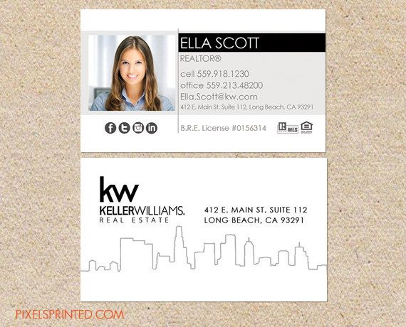 21 best business cards realtors images on pinterest realtor keller williams realtor business cards thick color both sides free ups ground shipping colourmoves