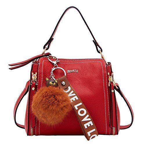 d9ed8ec7f33f BOYATU Fashion Top Handle Bag Mini Handbag for Women Leather Shoulder Purse