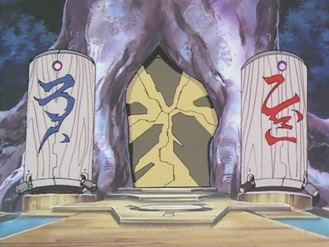 Azaka e Kamidake, guardiões da princesa Ayeka, no qual seus espíritos estão lacrados dentro desses receptáculos (Tenchi Universe)