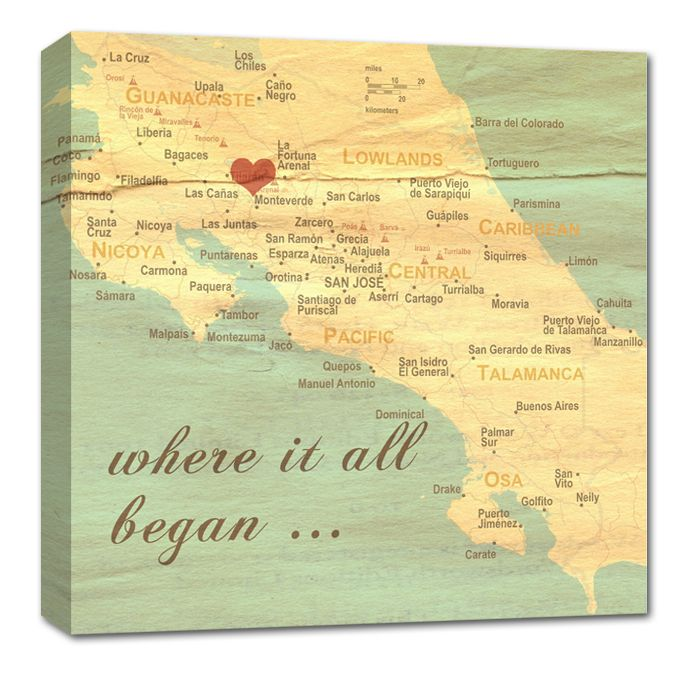 Were you met and fell i love on a vintage map with a heart in the place you got married. #map #vintage  http://geezees.com/