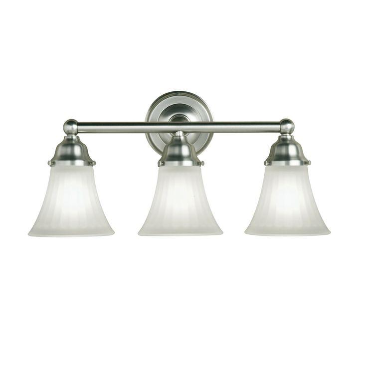 portfolio 3 light vassar brushed nickel bathroom vanity light at lowes. Black Bedroom Furniture Sets. Home Design Ideas