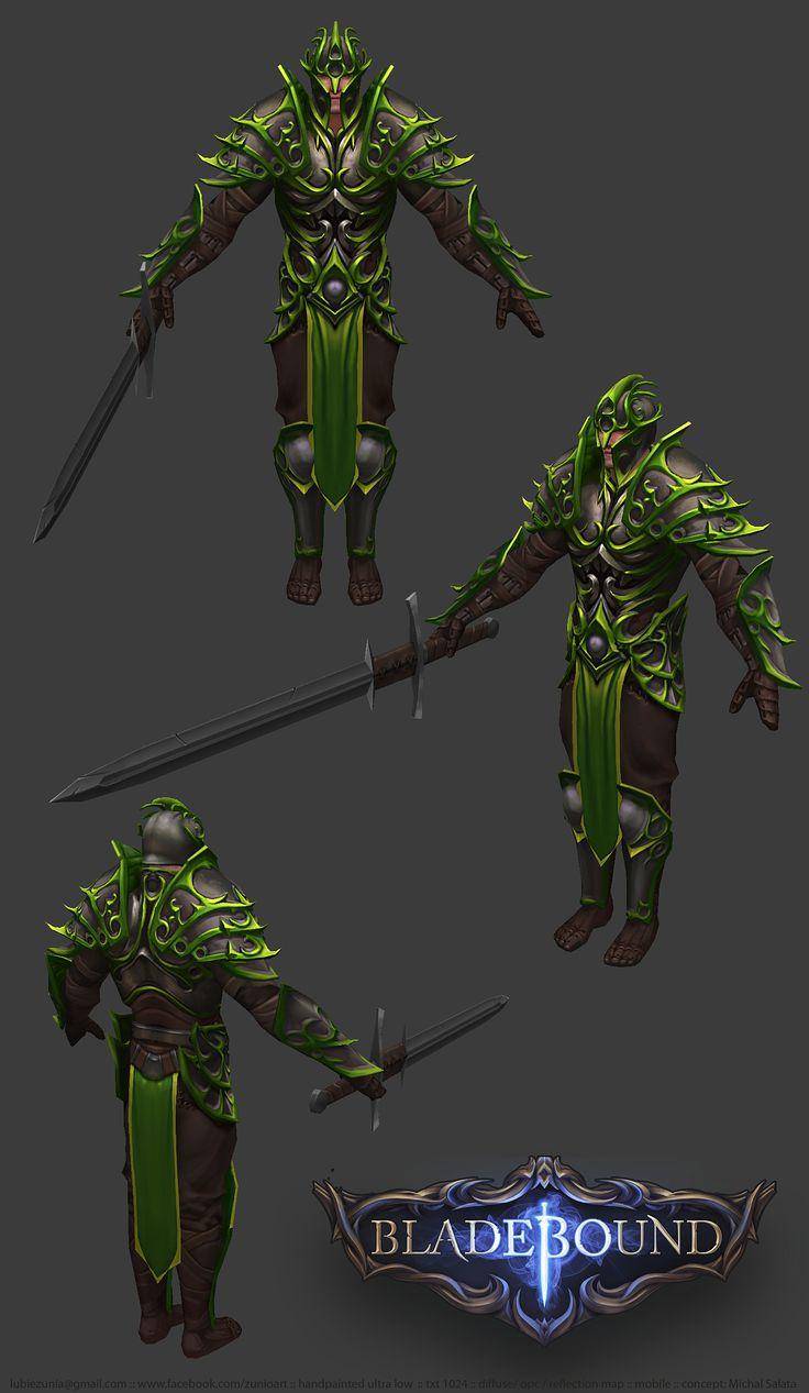 Bladebound Handpainted Nature Armor www.facebook.com/zunioart