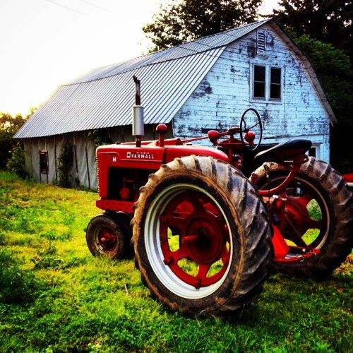 """meauw-meauw: """"Baby steps. #tractor #farmall #farm """""""