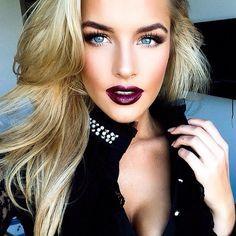 dirty blonde wearing purple lipstick - Google Search