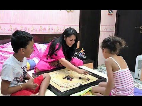 Sanjay Dutt's wife Manyata Dutt teaching son & daughter to play carrom.     Click here to see full video > https://youtu.be/g0bOpRc4CX8    #sanjaydutt #manyatadutt #bollywood #bollywoodnews #bollywoodnewsvilla