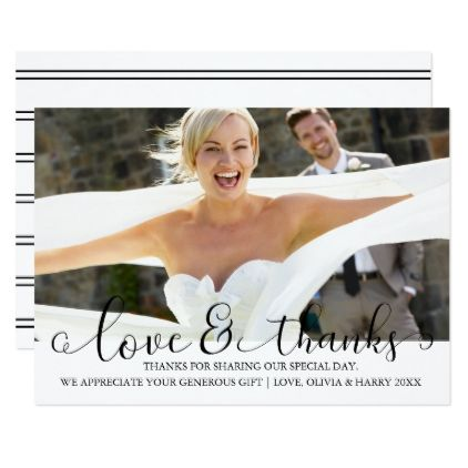Simply Elegant Wedding Photo Thank You Card - invitations personalize custom special event invitation idea style party card cards