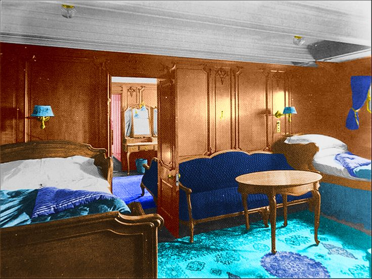 The First Class A Inspiration Of Harland Wolff Or French Style Cabin Colorized Britanic
