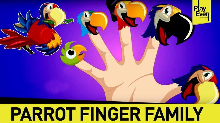 Parrot Finger Family Rhymes For Nursery- Kids Learning Videos | Finger F...