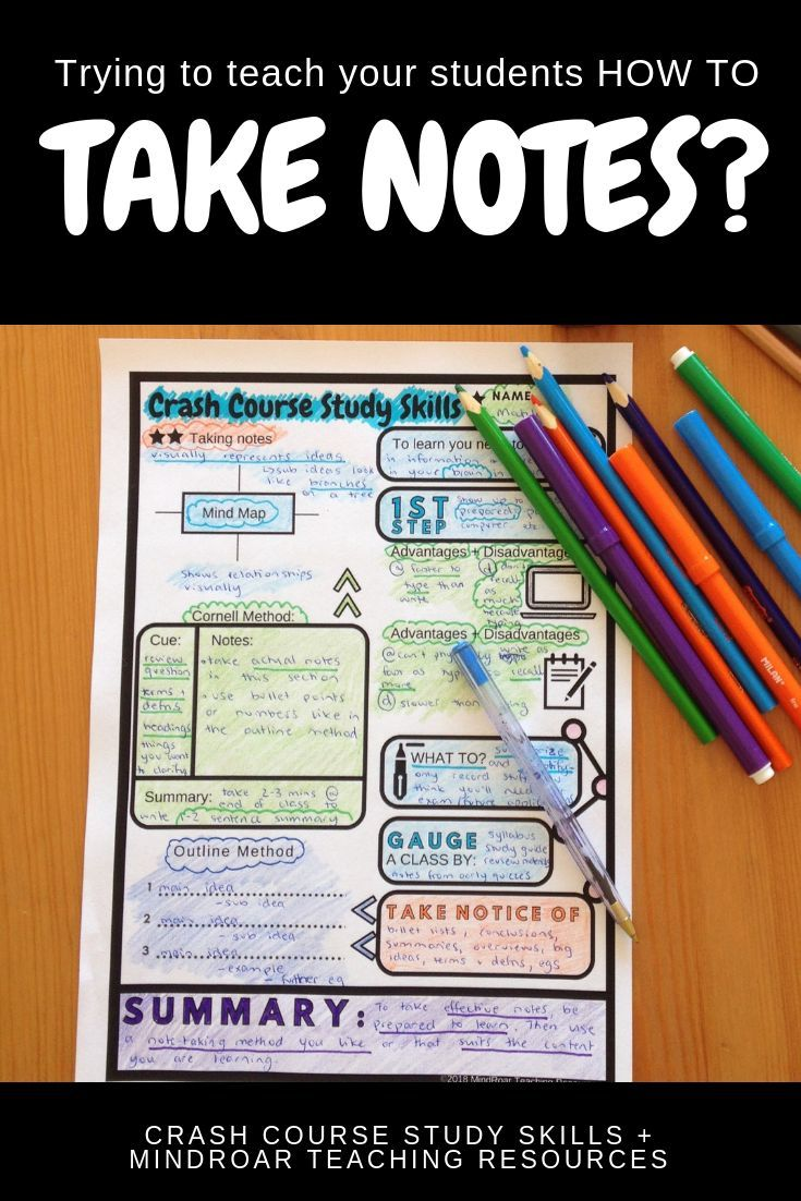 Use This Worksheet To Teach Your Students To Take Effective Notes Using One Of Three Systems As Shown Study Skills Teaching Study Skills Note Taking Strategies