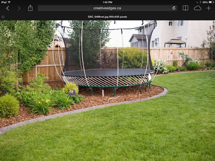 Best Backyard Trampoline Ideas On Pinterest Ground