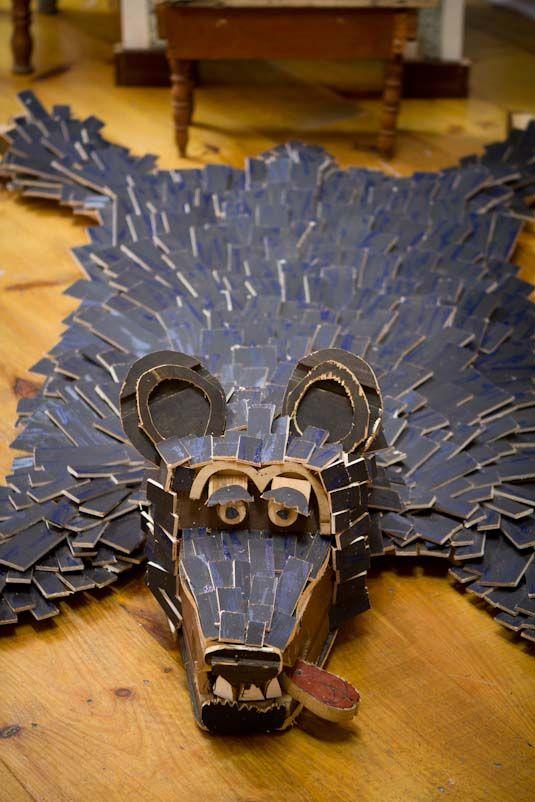 !ND!V!DUALS' Playful And Larger Than Life Scrap Wood Sculptures