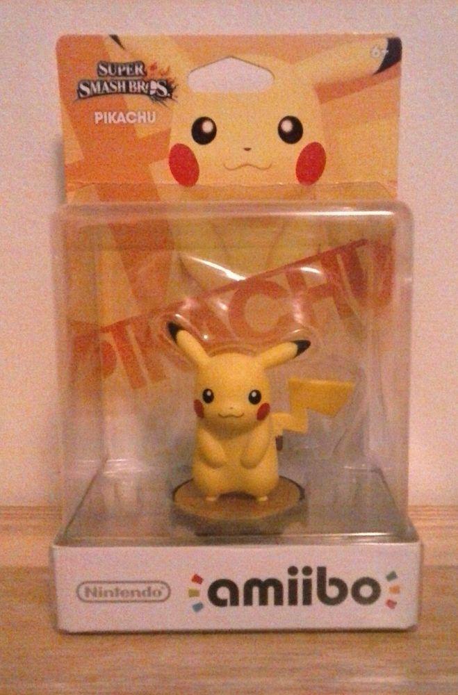 Nintendo Pikachu Amiibo Super Smash Bros Figure  #Nintendo