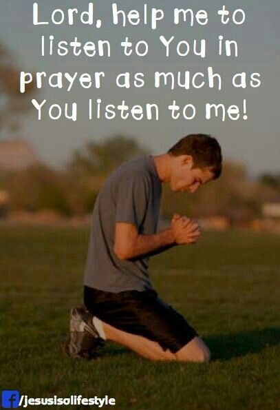 Lord, help me to listen to you.