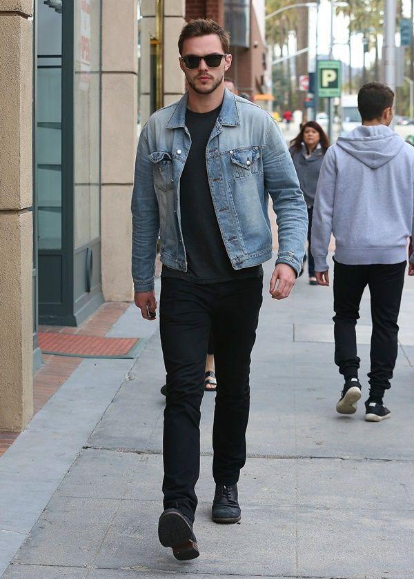 Black Jeans Outfit Ideas For Men Denim Jacket Men Black Jeans Men Mens Outfits