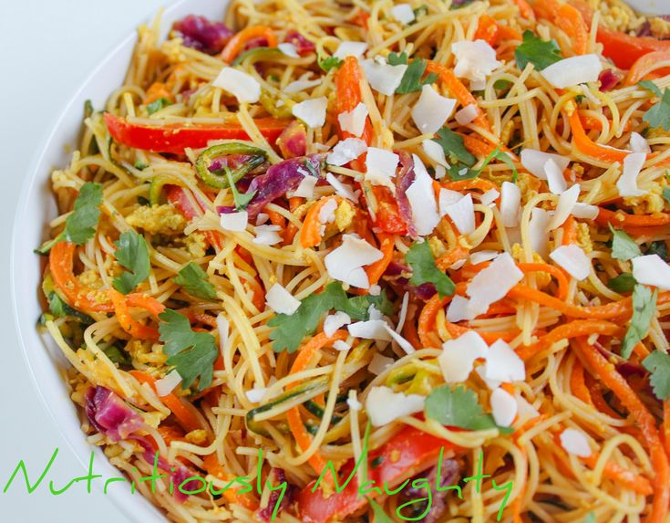This veg-packed coconut & lime vermicelli stir-fry is so quick and easy to make. It's naturally gluten free and refined sugar free and packed with flavour!