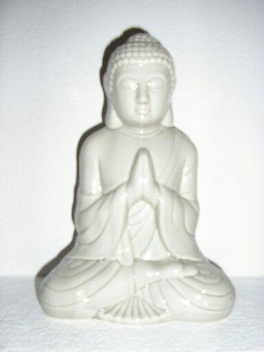White Budagh Statue