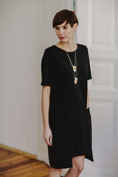 Summer ZOE /b l a c k/ - PulpaDesign - Sukienki midi