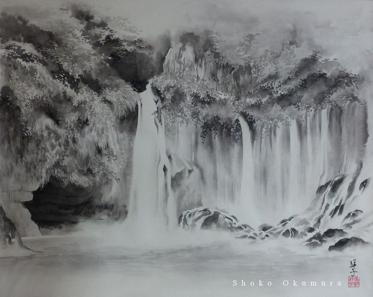 painted in indian ink on paper  my works from www.shokookumura.com