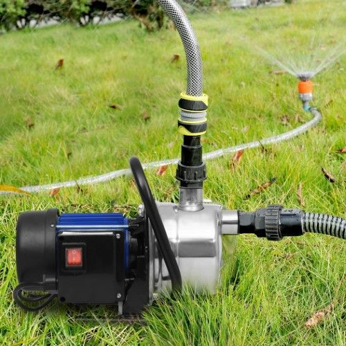 Homdox 1200W 1.6HP Booster Pump Stainless Shallow Well Pump Lawn Sprinkling Pump for Home Garden Irrigation Water Supply with Automatic ON/OFF-12.9 x 7.8 x 9 inch(L x W x H)-Blue | Jet.com