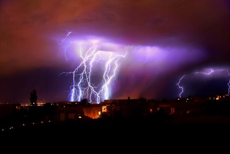 Lightning Bolts Strike ABQ NM