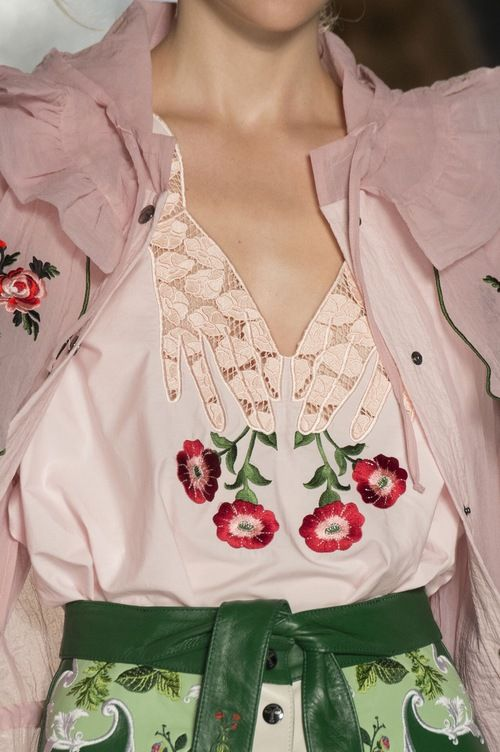 Spring styling: embroidered pieces
