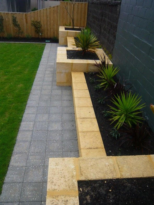 Limestone Garden Bed Garden Design Ideas Pinterest