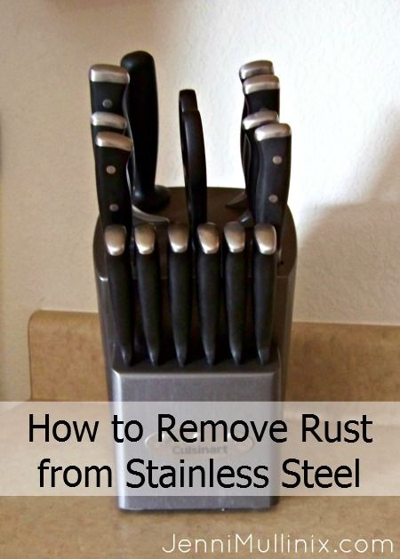 removing rust from stainless steel knives bicarb cleaning pinterest stains remove rust. Black Bedroom Furniture Sets. Home Design Ideas