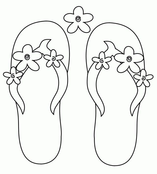 Wonderful Photo Of Flip Flop Coloring Pages Flip Flop Coloring