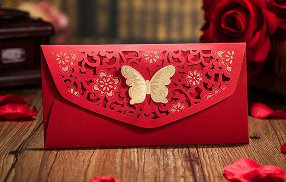 6 Laser Cut Butterfly Chinese Money by InvitationsByDianne on Etsy