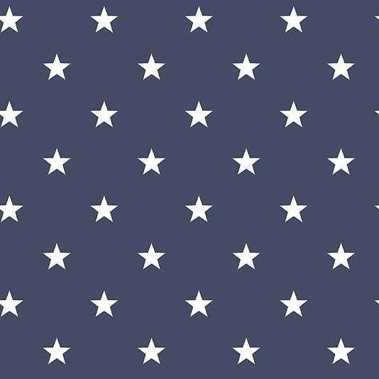 Deauville Stars Wallpaper An navy blue wallpaper with an all over star design in white.