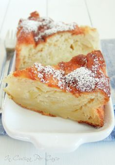 Italian Food ~ torta di mele soffice senza burro 9e olio - soft apple cake with no butter/oil