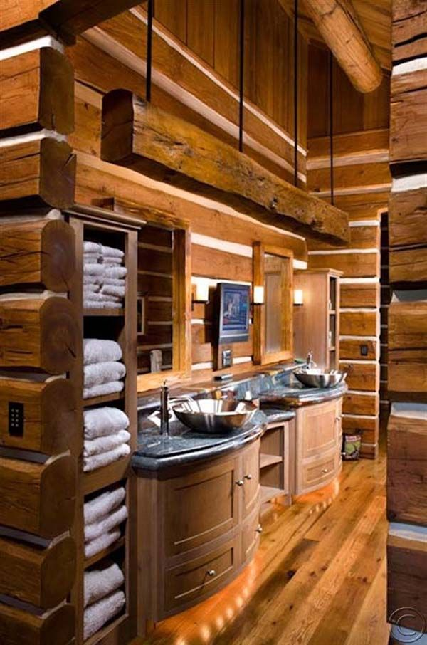 Bathroom Ideas Log Homes 129 best log homes images on pinterest | log cabins, cabin homes