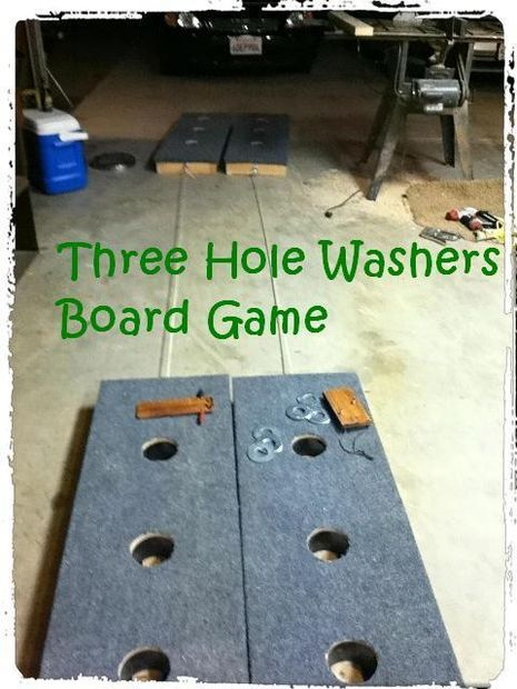 Picture of Build A Three Hole Washers Board Game