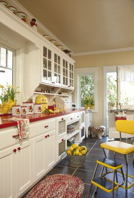 208 best Yellow and Red images on Pinterest | Retro kitchens, Yellow and  Yellow cottage