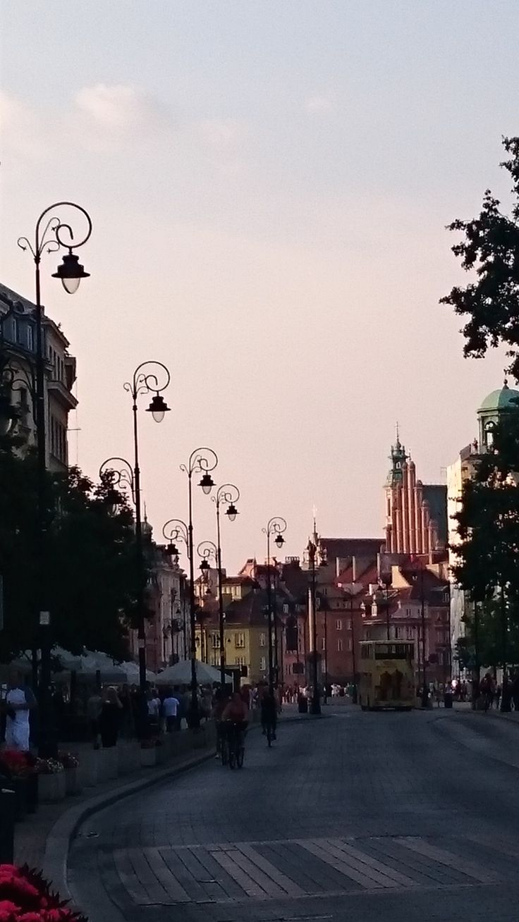 Nowy Swiat looking onto the Old Town, Warsaw