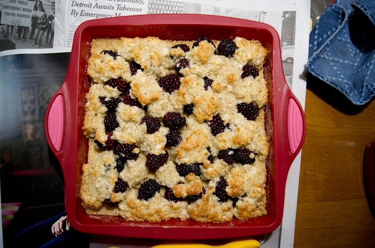 of mine posted this picture of a blackberry & coconut macaroon tart ...