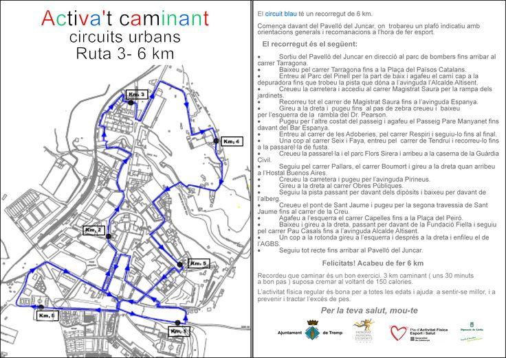 #Tremp Circuïts Urbans Activa't - Circuït Blau 6 km.